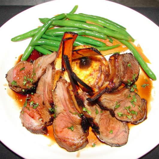 ... iron lamb loin chops seared lamb with balsamic pan seared loin of lamb